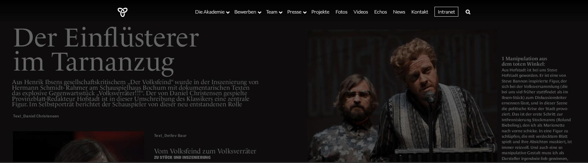 Daniel Christensen – Bühnenwelt Selbstporträt